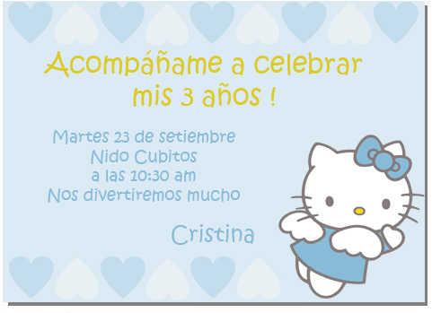 Tarjeta de invitación de Hello Kitty | Web Del Bebé