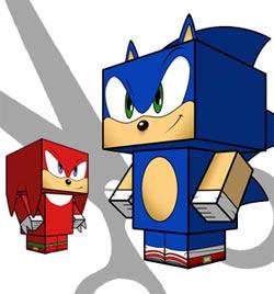 Sonic papercraft templates.